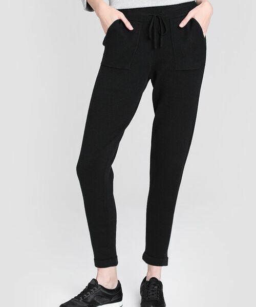 Вязаные брюки-джоггеры