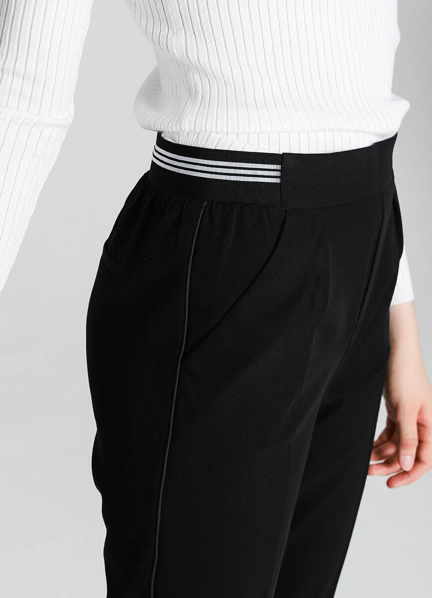 Поливискозные брюки-багги