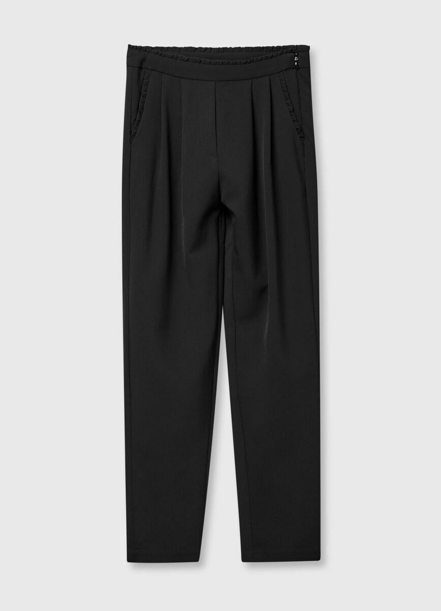 Свободные брюки с рюшами