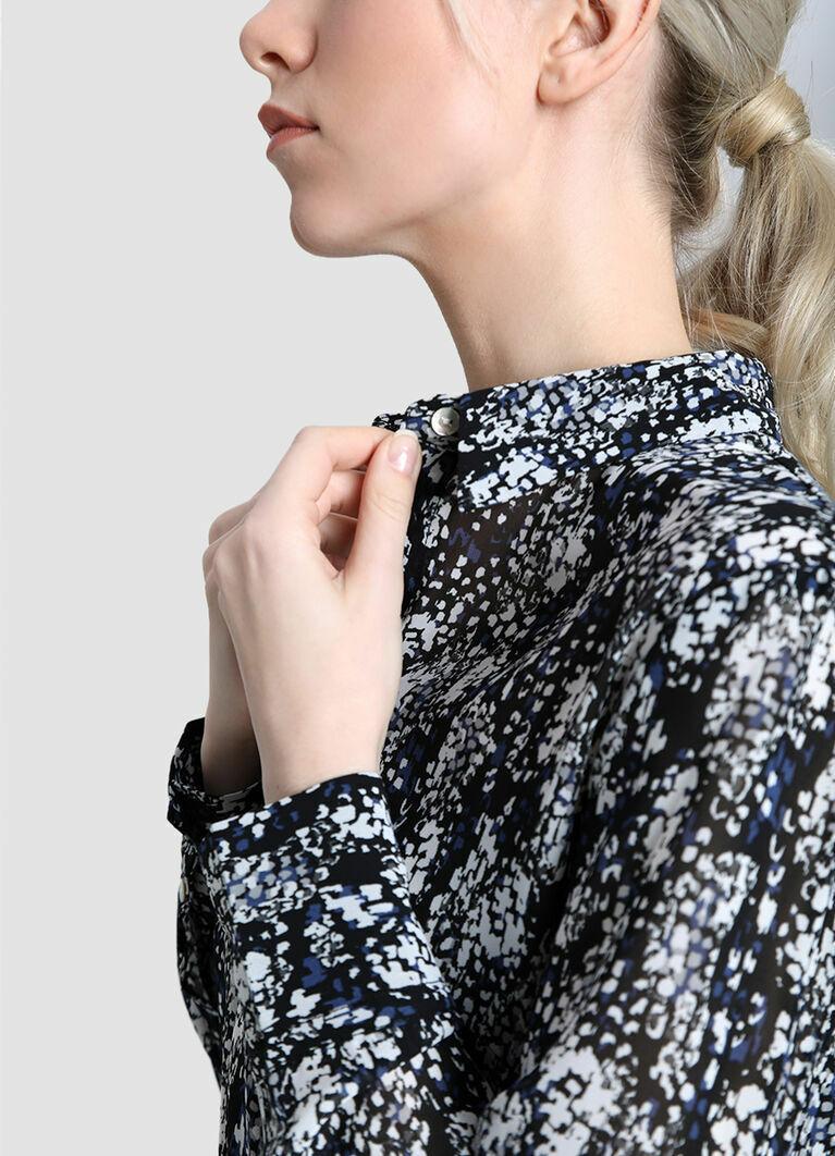 Принтованная блузка из крепа