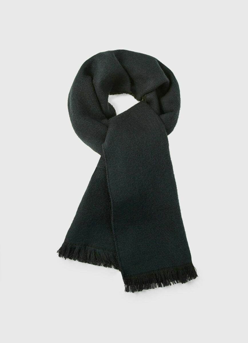 Двухсторонный шарф с шерстью