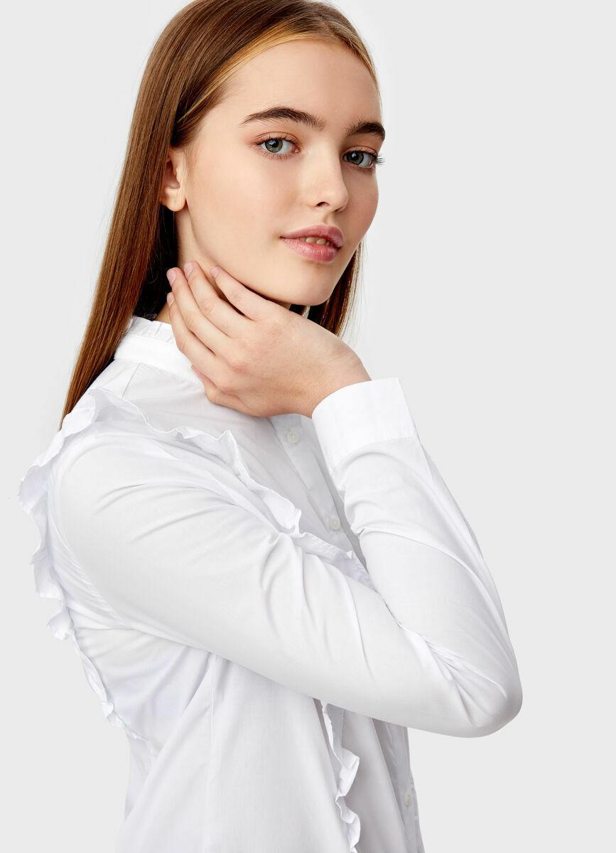 Блузка с рюшей