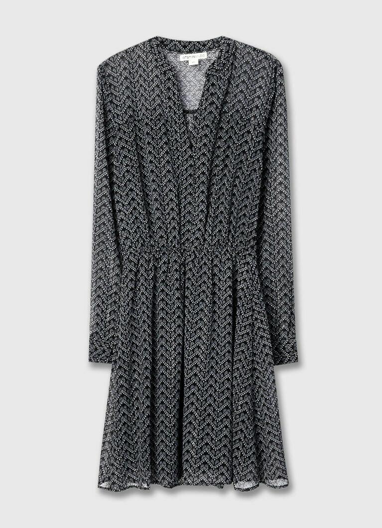 Платье-рубашка из шифона