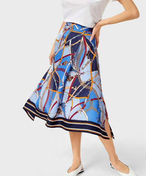 Юбка A-силуэта в платочный принт ostin юбка в тропический принт