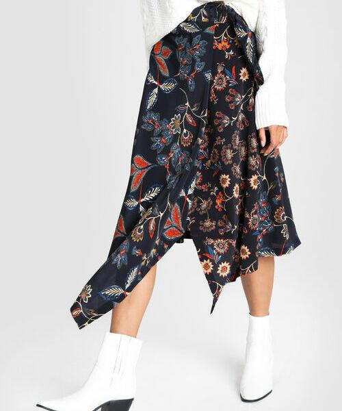 Юбка A-силуэта в цветочный принт ostin юбка в тропический принт