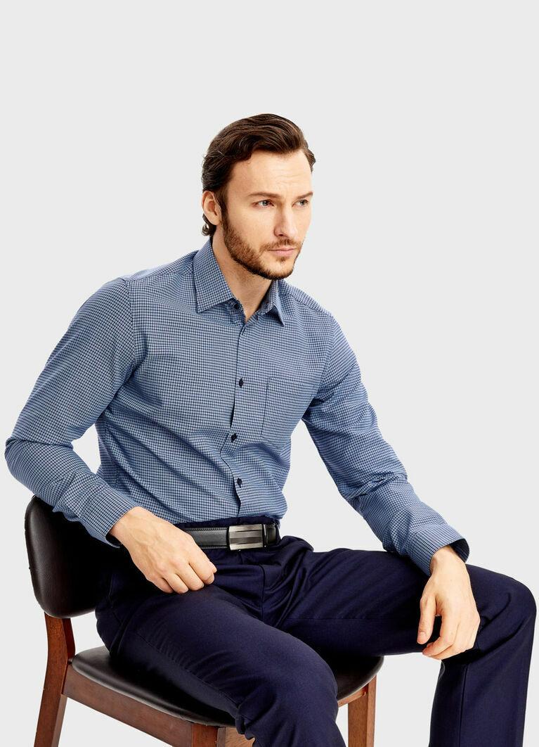 Рубашка с жаккардом