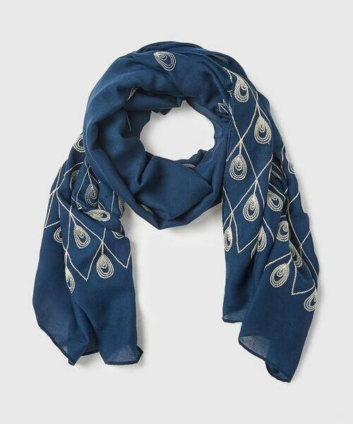 Шарф с вышивкой шарф dondup