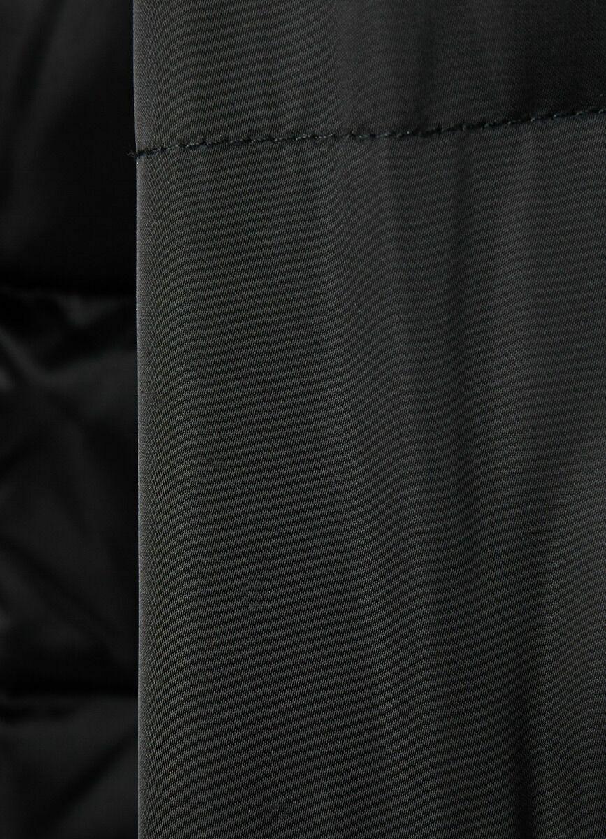 Пуховое полупальто с искусственным мехом
