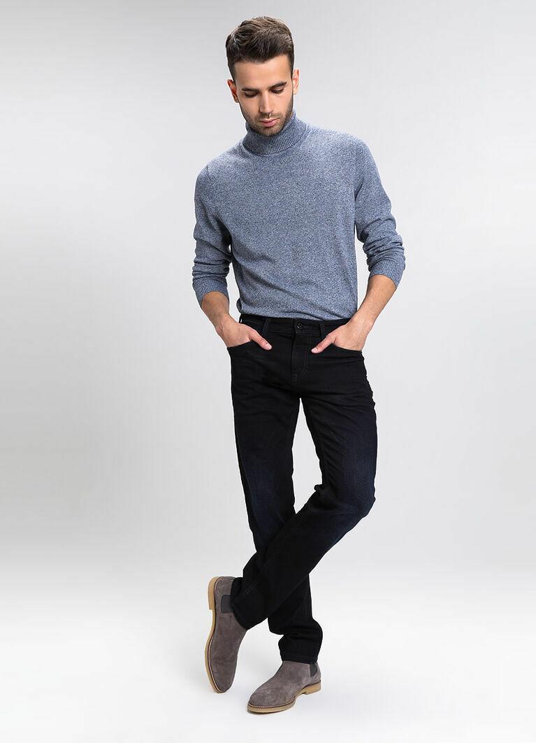 Утеплённые джинсы с мягким начёсом