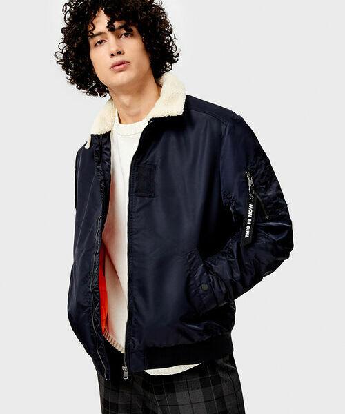 Куртка-бомбер с отложным воротником пиджак с отложным воротником b young