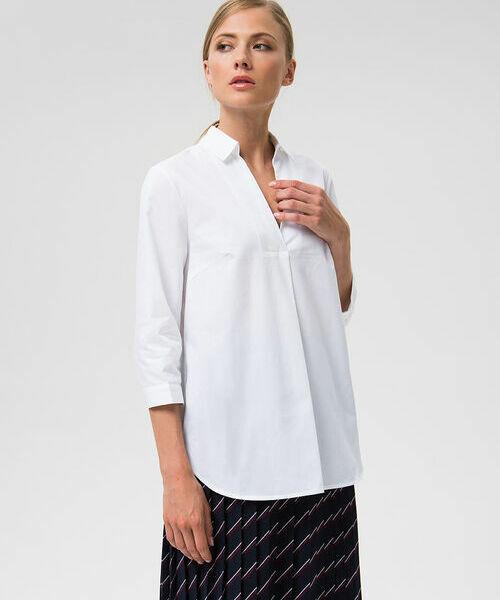 Фото - Рубашка из хлопка с V-вырезом фото