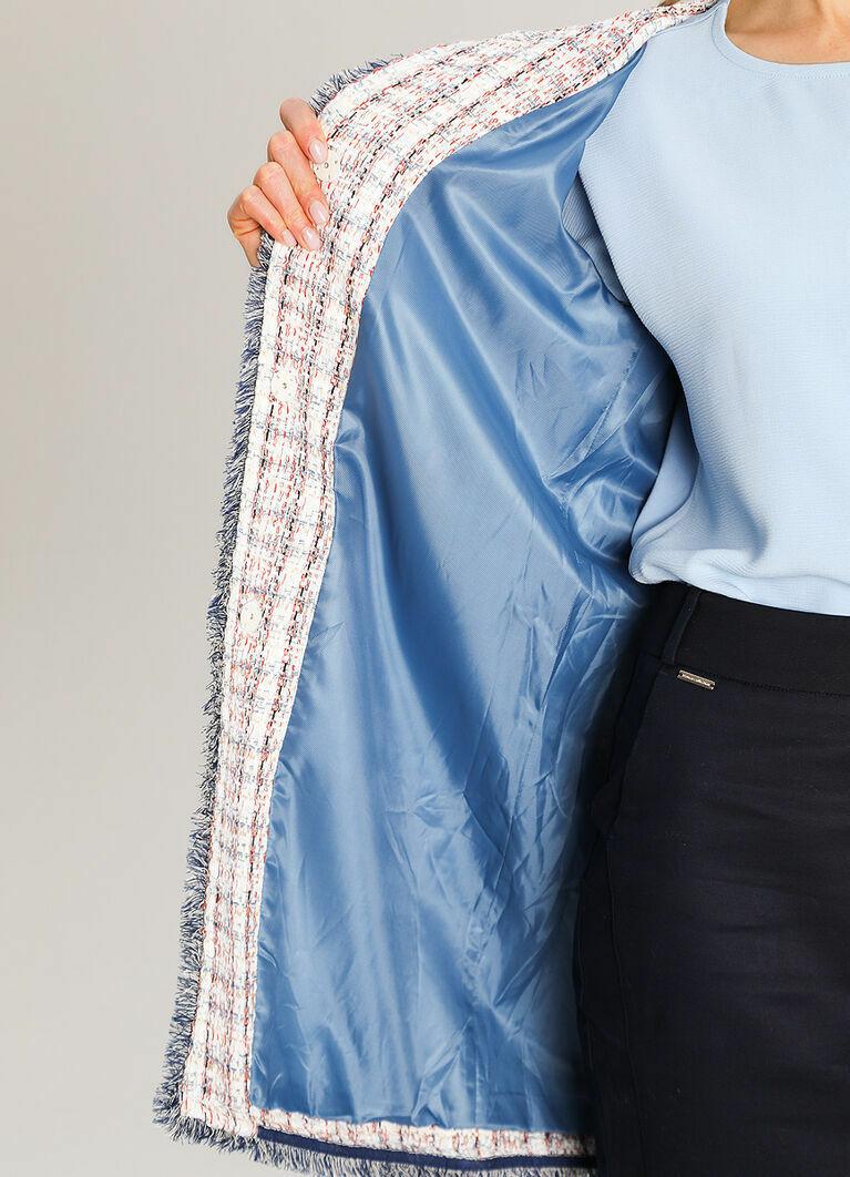 Пальто из твидовой ткани