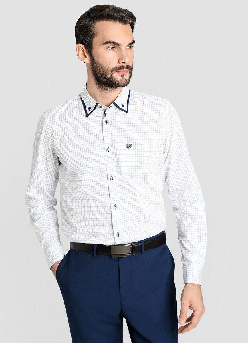 Рубашка из жаккардовой ткани