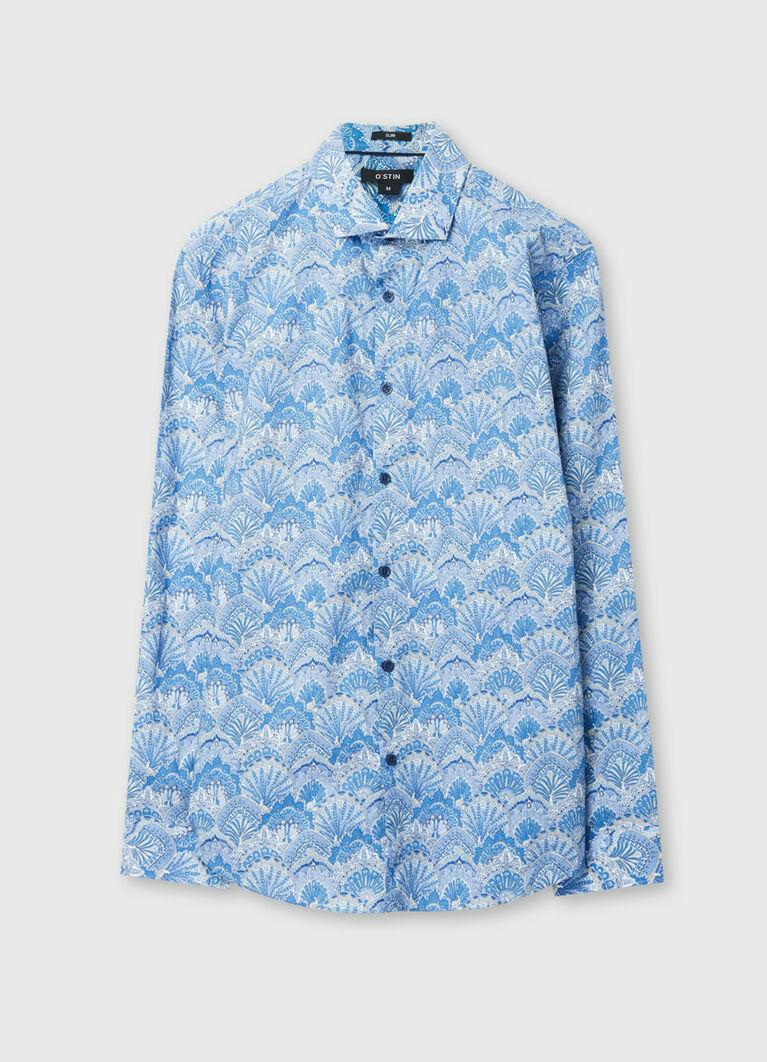 Рубашка из хлопка с принтом  Paisley