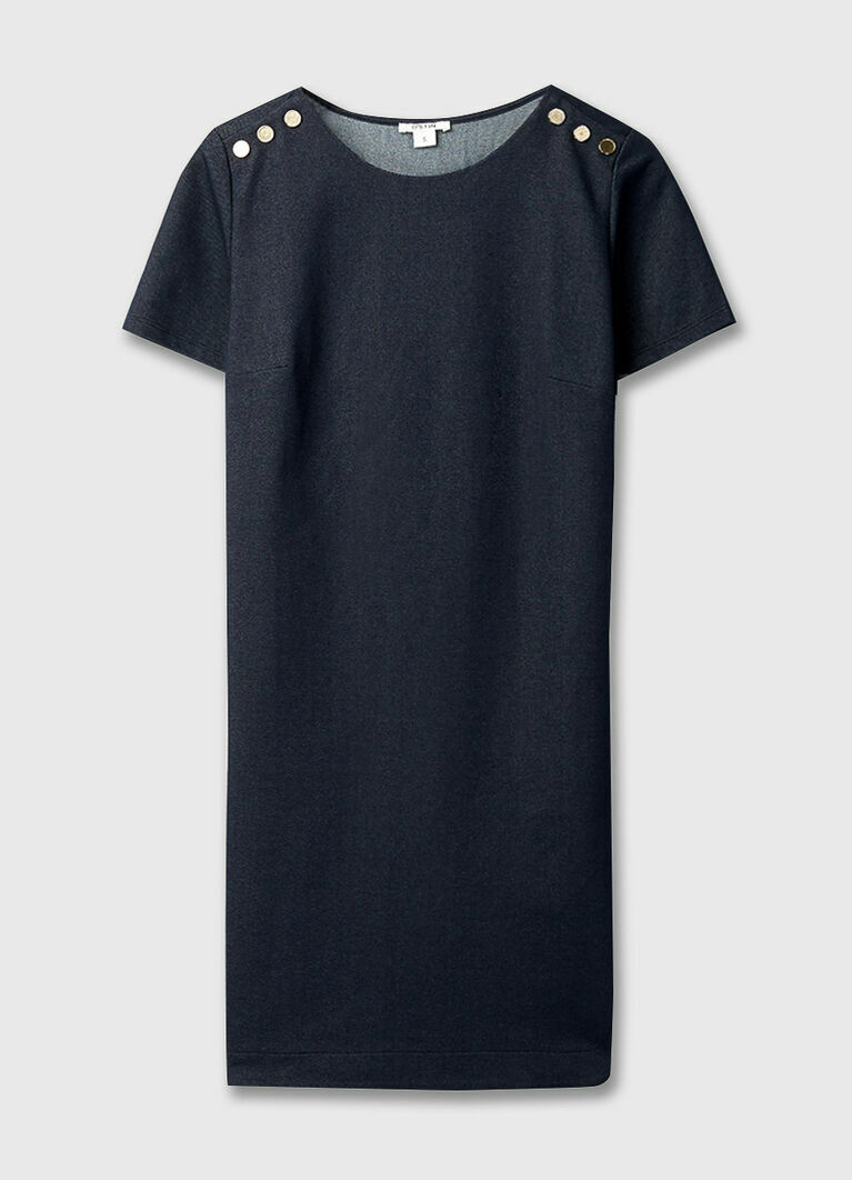 Платье из кроёного трикотажа