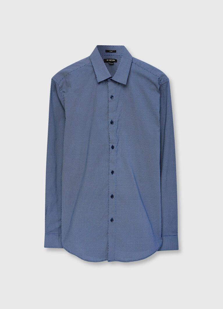 Рубашка в геометрический микропринт
