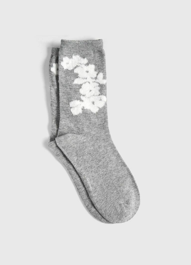 Тёплые носки с жаккардом