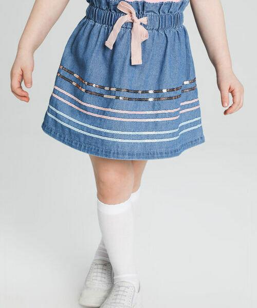 Джинсовая юбка с вышивкой пайетками gucci джинсовая юбка