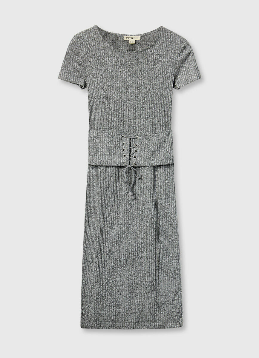 Платье-труба с завязками