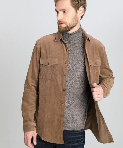 Рубашка из вельвета с накладными карманами все цены