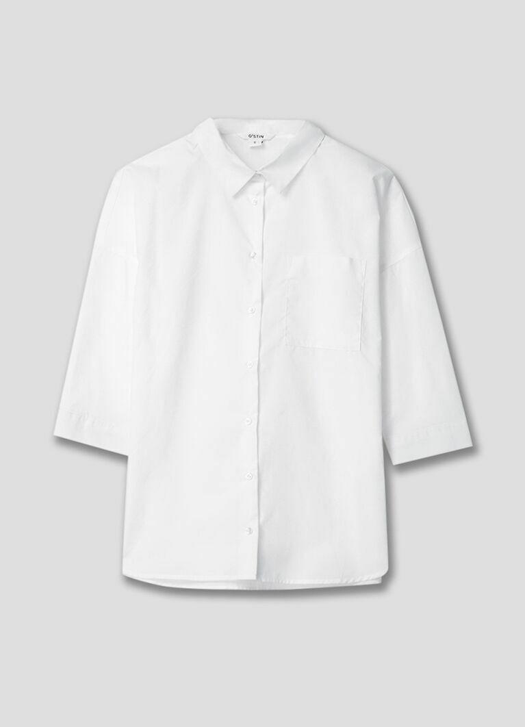 Объёмная хлопковая рубашка