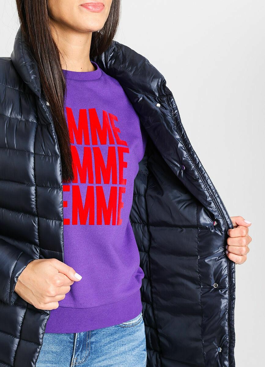 Ультралёгкое пальто с воротником-стойкой