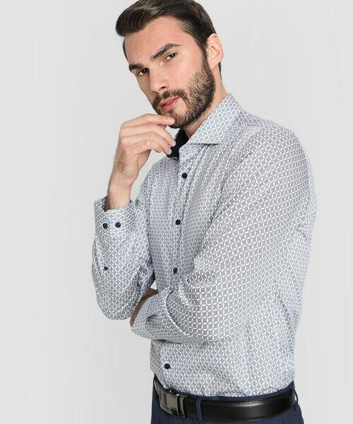 Фото - Рубашка из принтованного сатина рубашка greg greg mp002xm05sgb