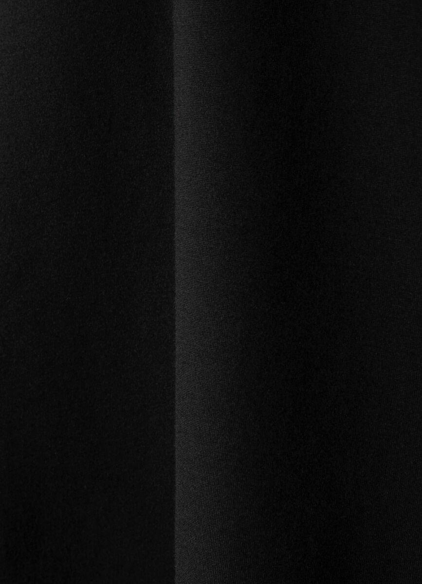 Юбка-труба с кожаными лампасами