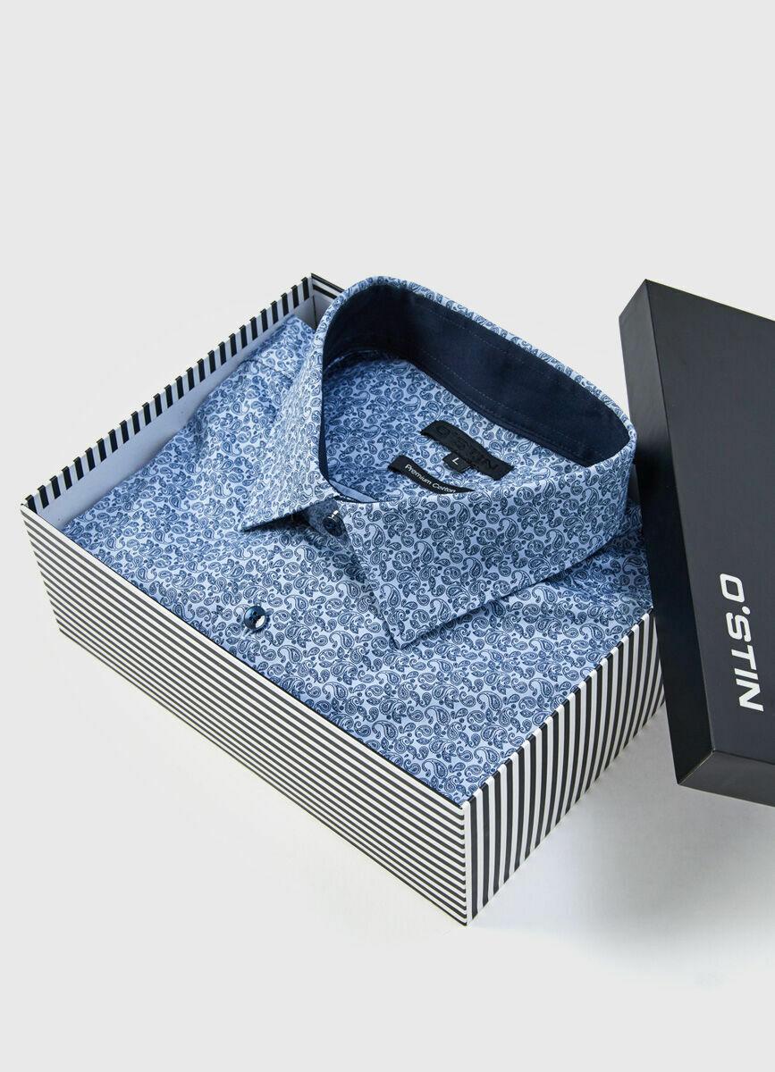 Рубашка с флоральным принтом в подарочной коробке
