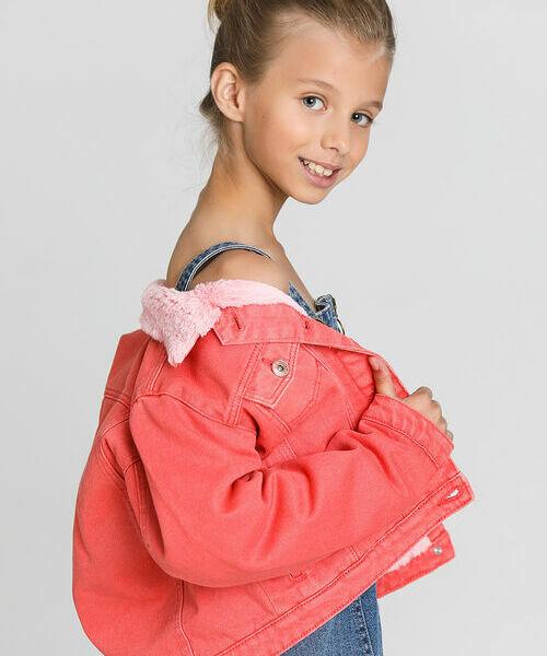цена Джинсовая куртка с подкладкой из искусственного меха онлайн в 2017 году