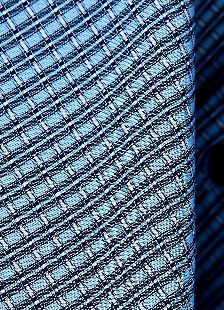 Рубашка в жаккардовую клетку