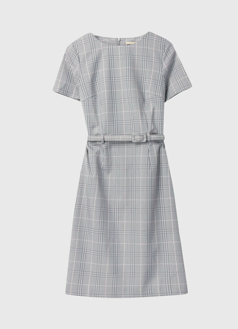 Платье-карандаш из поливискозы в клетку