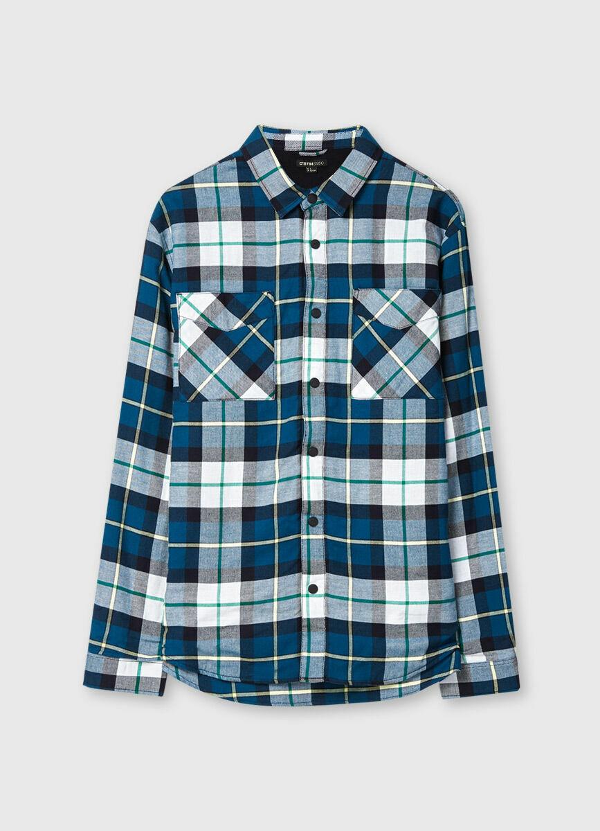 Рубашка-жакет с флисовой подкладкой