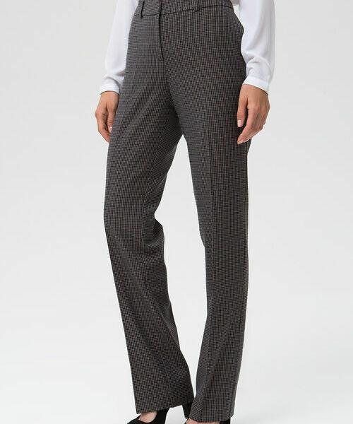 Фото - Прямые брюки из поливискозы в «гусиную лапку» фото