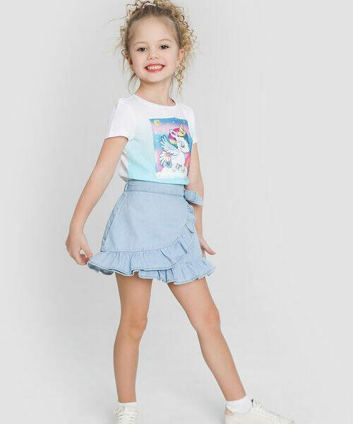 Джинсовая юбка с оборками gucci джинсовая юбка