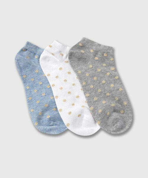 Фото - Носки с жаккардом в горох носки