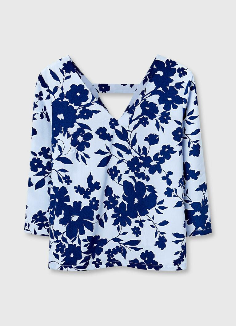 Блузка в цветочный принт