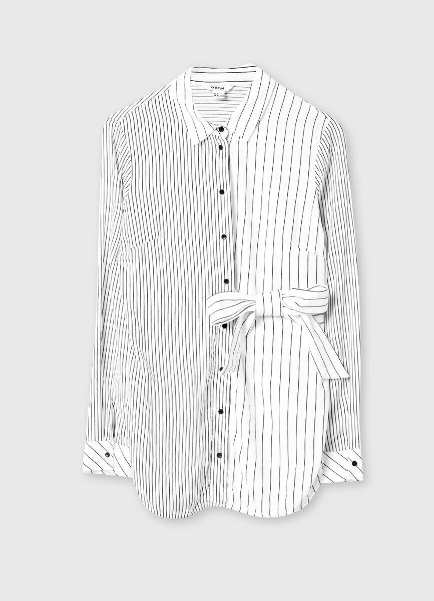 Блузка в тонкую полоску
