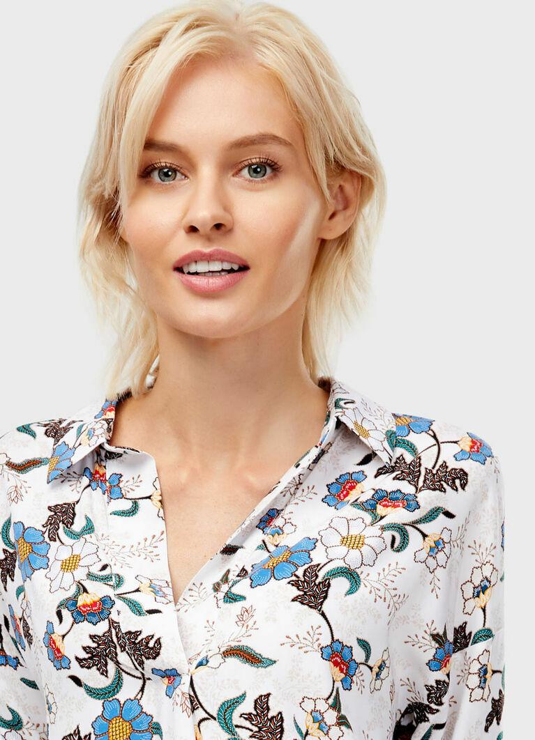 Блузка с принтом «цветы»