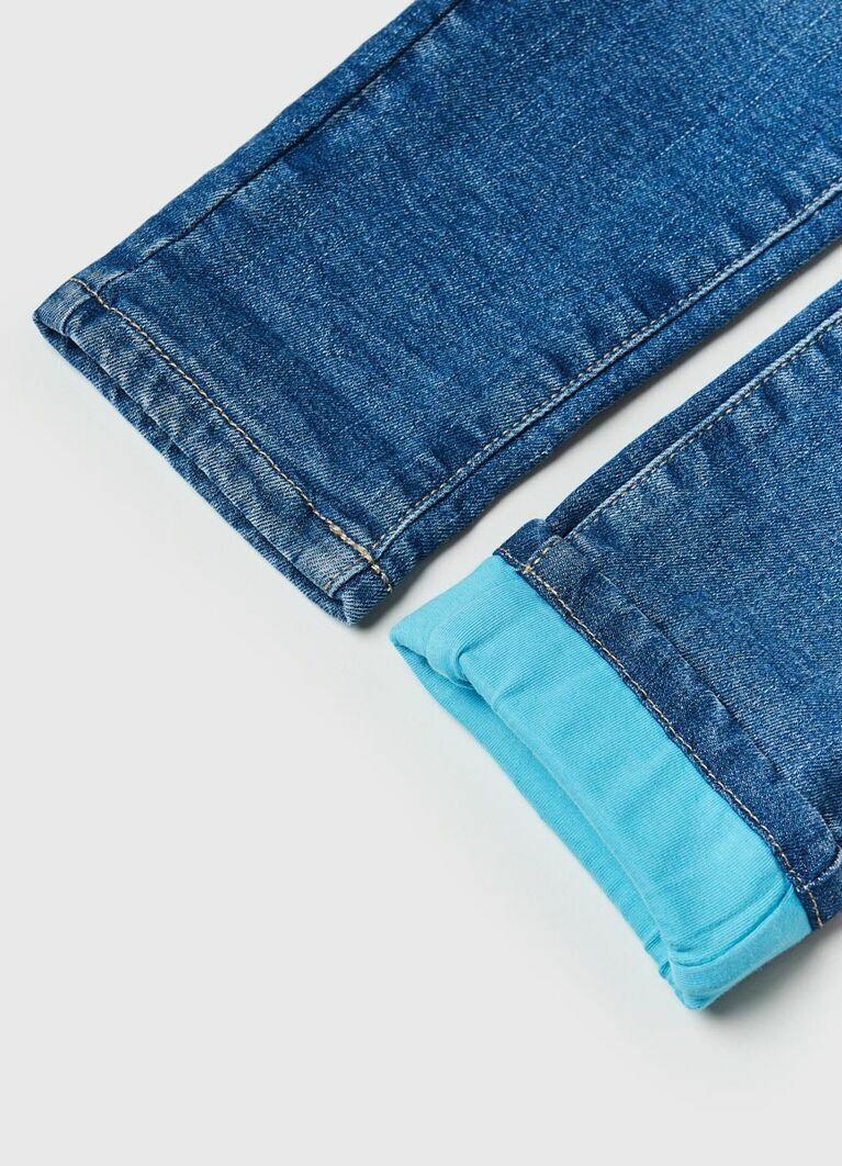 Джинсы с подкладкой для девочек