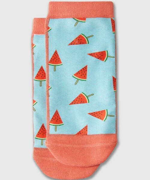 Фото - Принтованные короткие носки носки