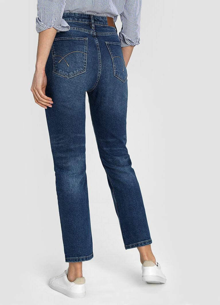 Премиум-джинсы с высокой посадкой