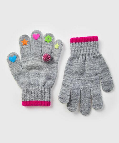 Перчатки для девочек gucci серые вязаные перчатки