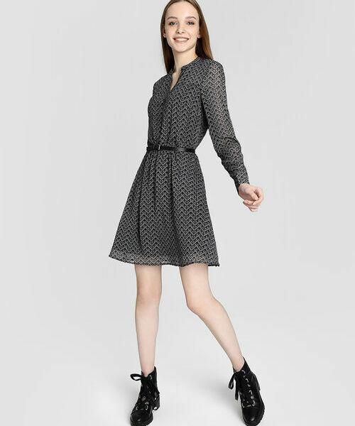 Платье-рубашка из шифона 12storeez платье из шифона синий