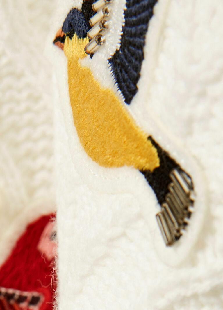 Джемпер с вышивкой «птицы»