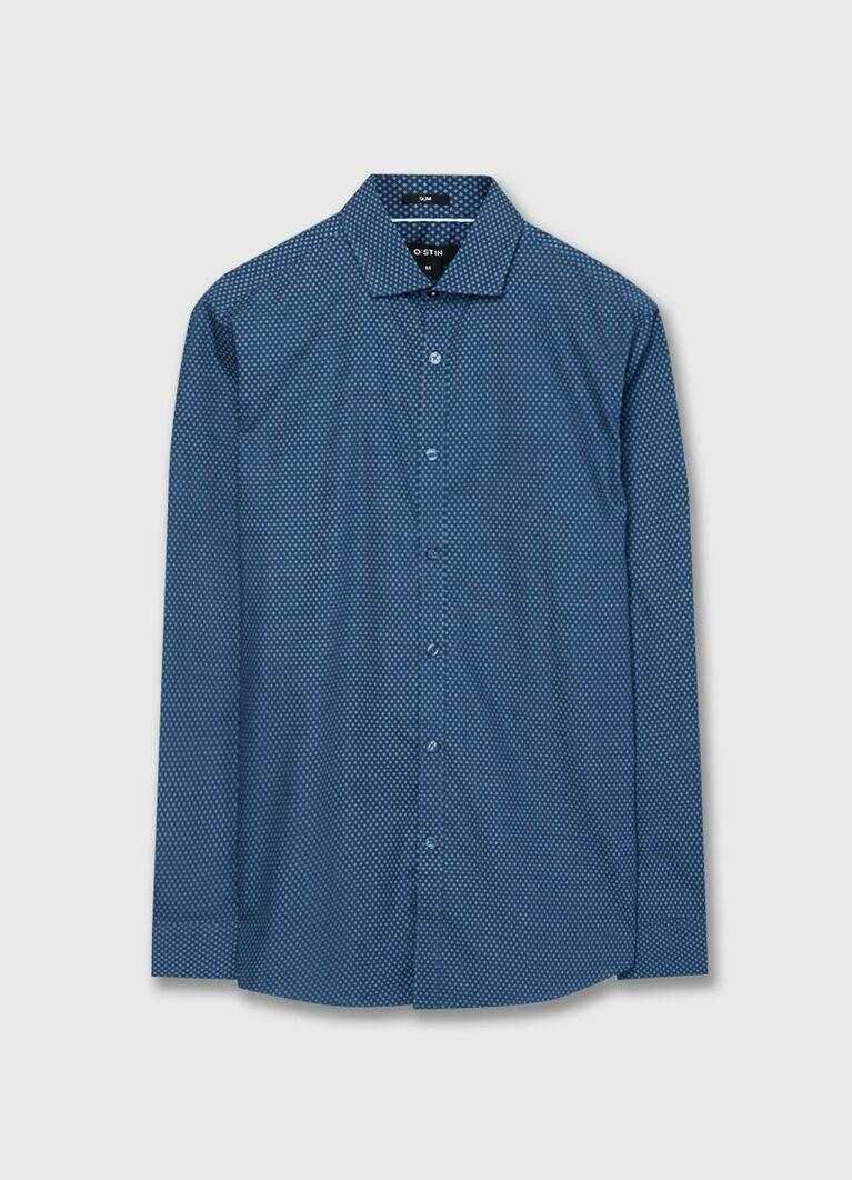 Рубашка с микропринтом